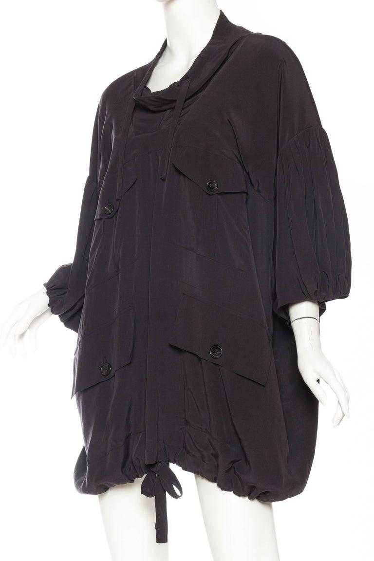 Balenciaga oversized Silk Bomber Blouse 4