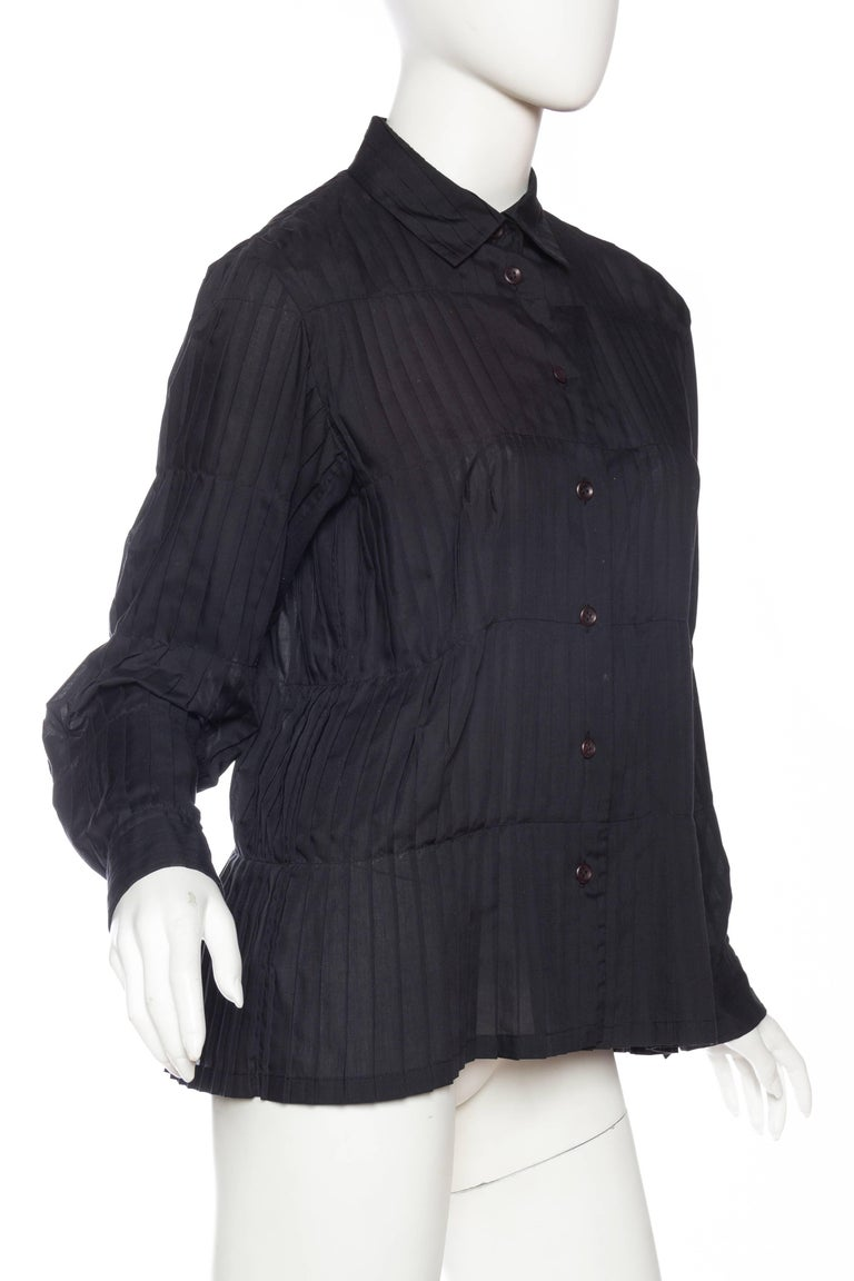 Women's Issey Miyake Pleated Blouse For Sale