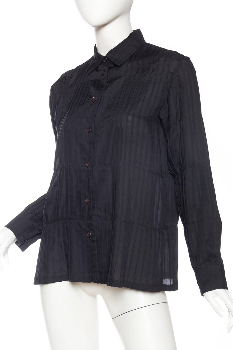Issey Miyake Pleated Blouse For Sale 1