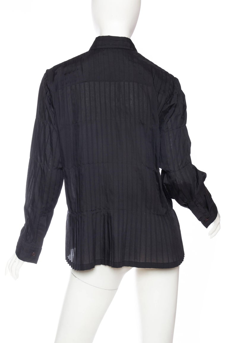 Issey Miyake Pleated Blouse For Sale 2
