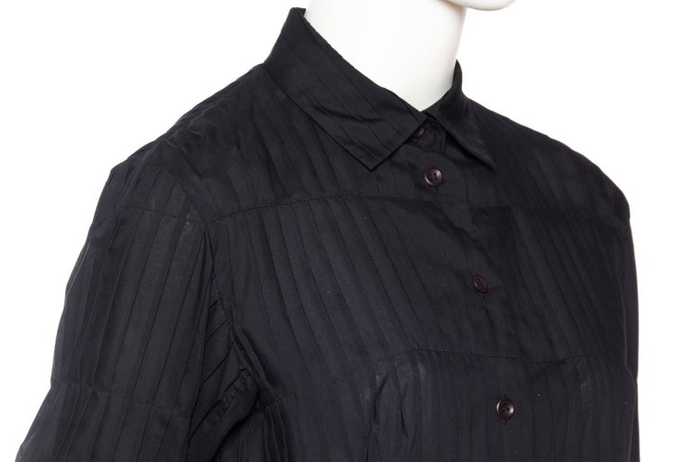 Issey Miyake Pleated Blouse For Sale 3
