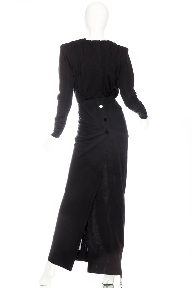 Women's Galanos Structured Wool Jersey Gown For Sale