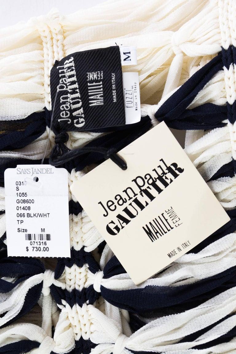 Jean Paul Gaultier Sailor Knit Top NWT For Sale 6