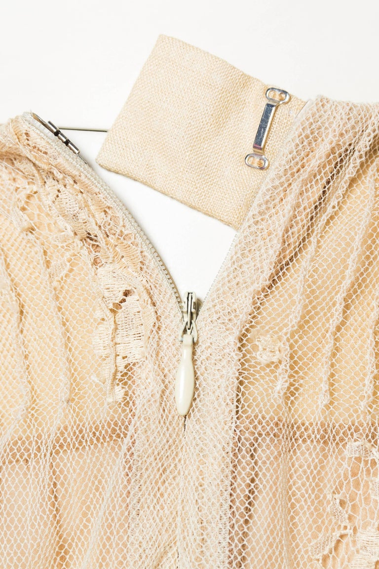 Valentino Runway Lace Skirt with Hand Embroidery and Ribbonwork For Sale 3
