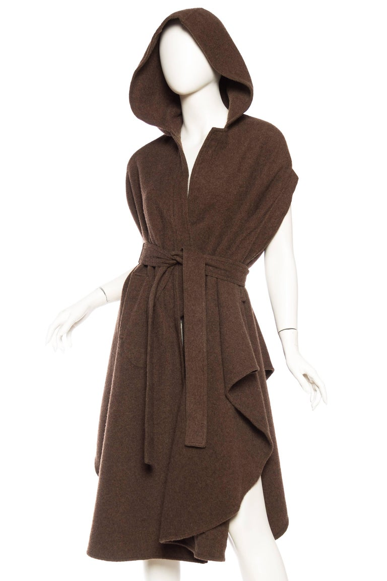 Wool Cape with Hood 2