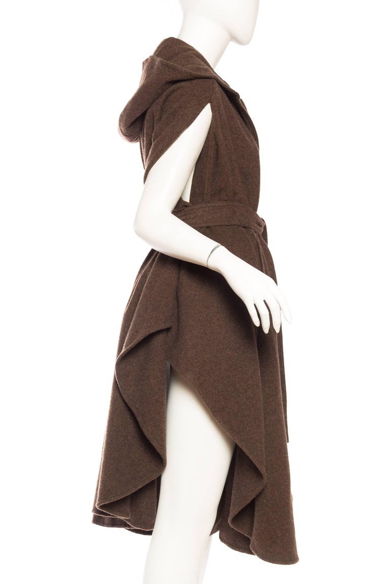 Wool Cape with Hood 7