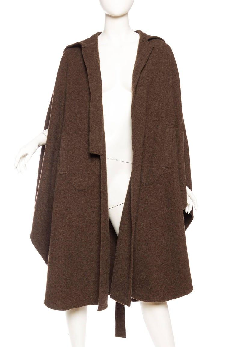 Wool Cape with Hood 4