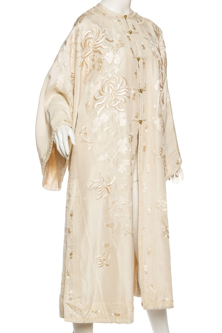 Women's Antique Edwardian Hand Embroidered Chinese Jacket For Sale