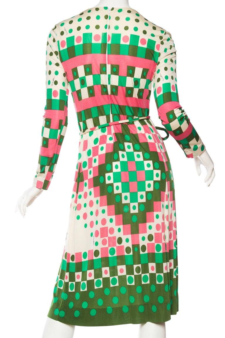 1960s Mod Emilia Bellini Lightweight Silk Jersey Dress For