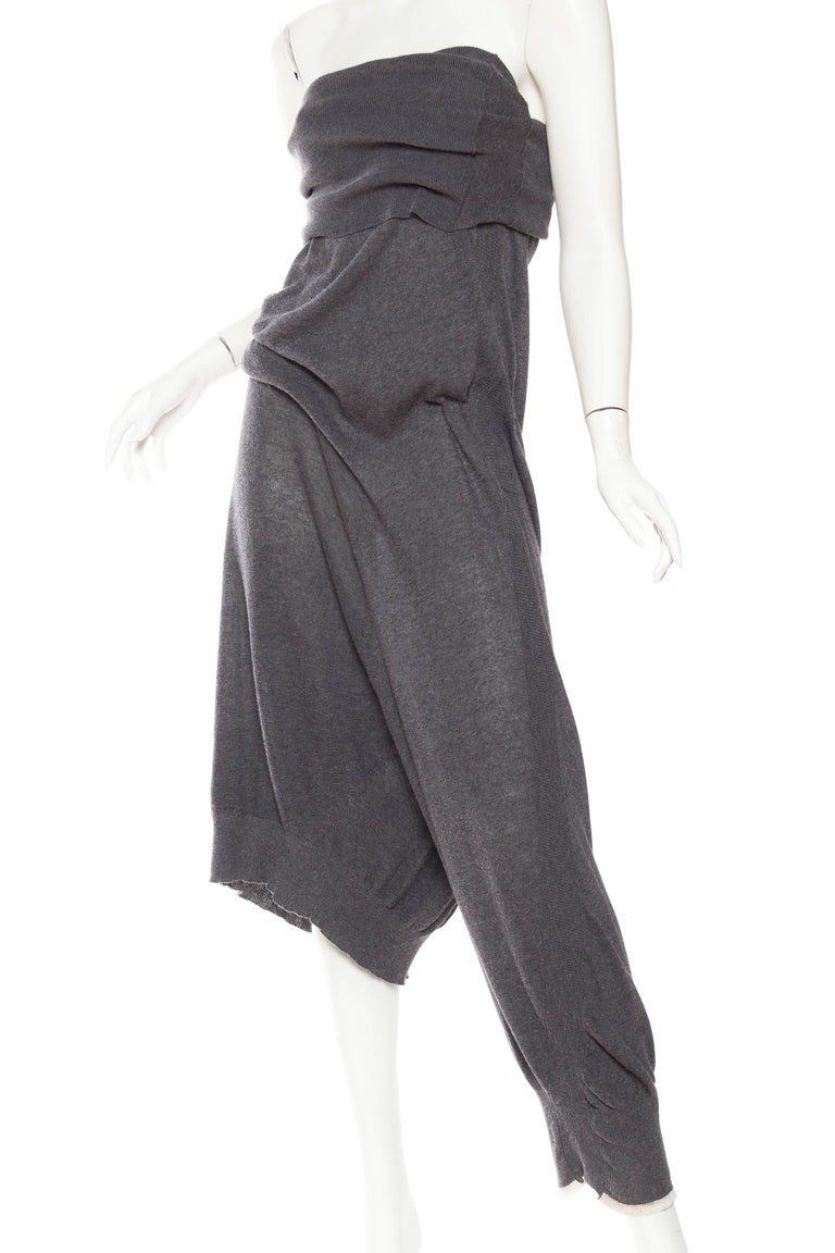Yohji Yammamoto Asymmetrical Knit Jumpsuit Pants 4