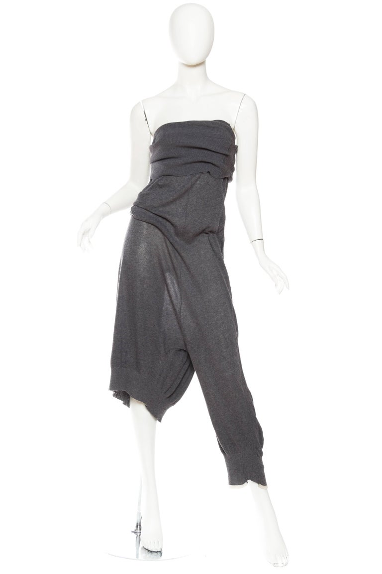 Yohji Yammamoto Asymmetrical Knit Jumpsuit Pants 2