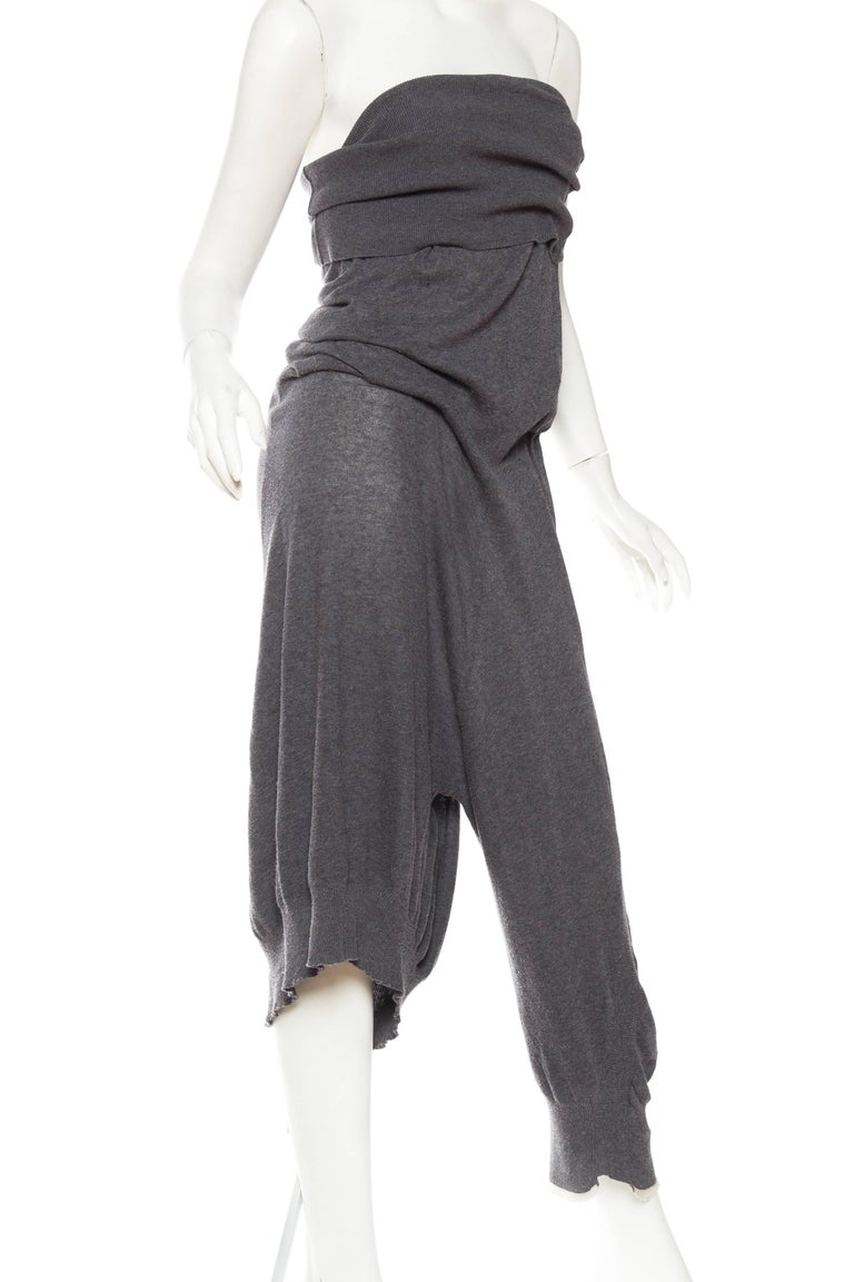 Yohji Yammamoto Asymmetrical Knit Jumpsuit Pants 3