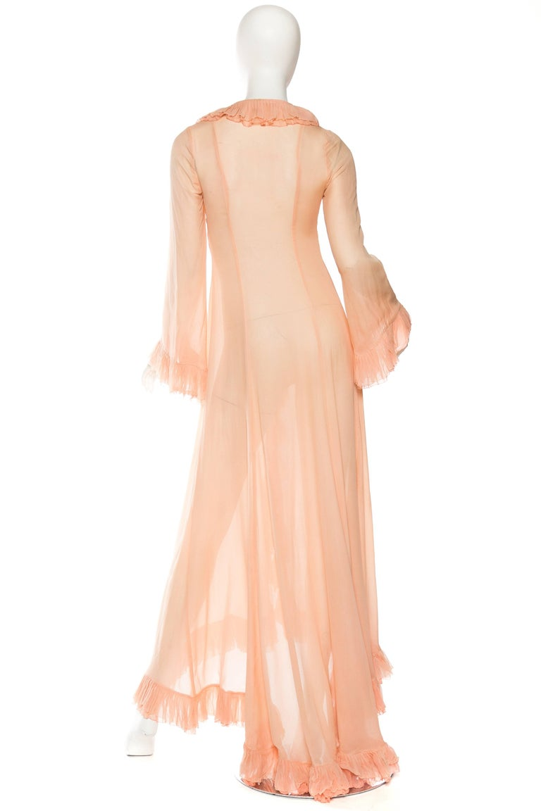 1960s sheer silk chiffon robe from saks fifth avenue at for Saks 5th avenue robes de mariage