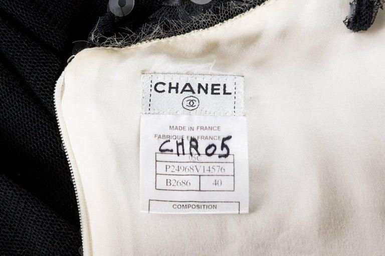 Quintessential Black & White Chanel Dress For Sale 6