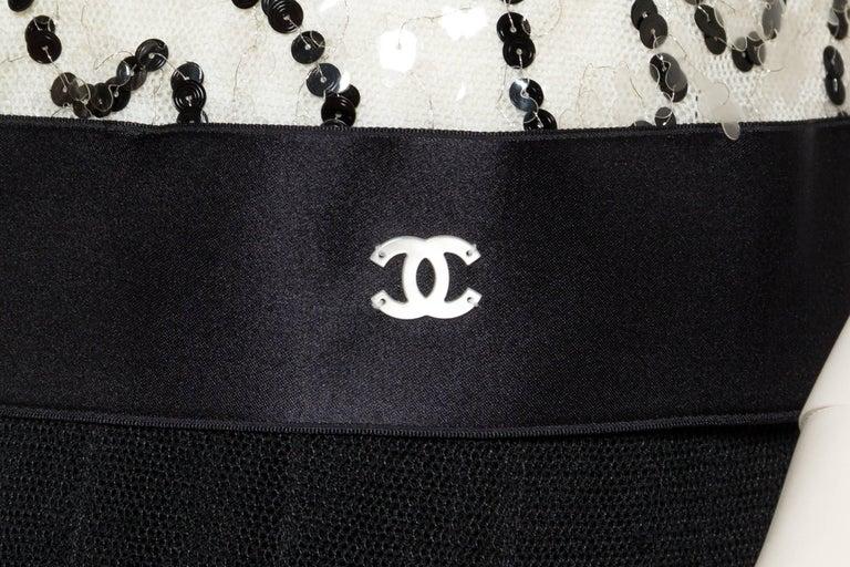 Quintessential Black & White Chanel Dress For Sale 4
