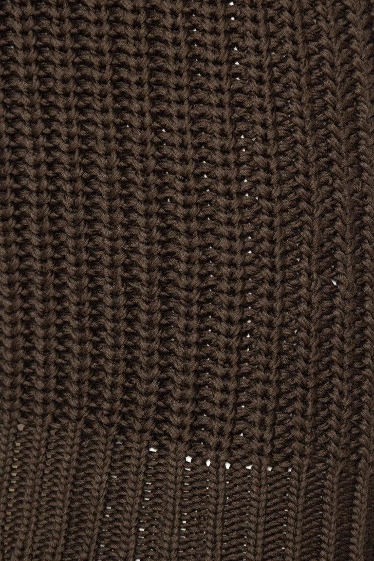 1990S Cotton Backless Knit Cowl Neck Halter Top Mini Dress For Sale 4