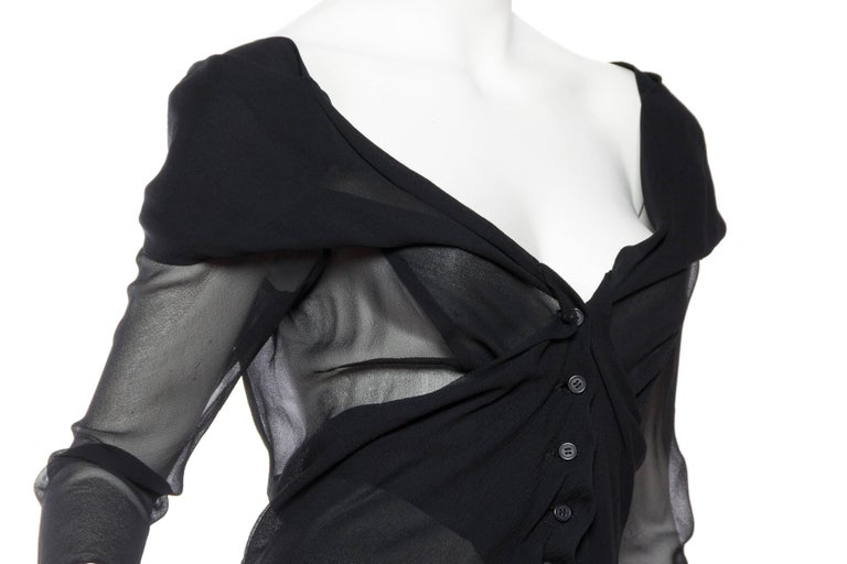 Sheer 1990s Issey Miyake Blouse For Sale 3