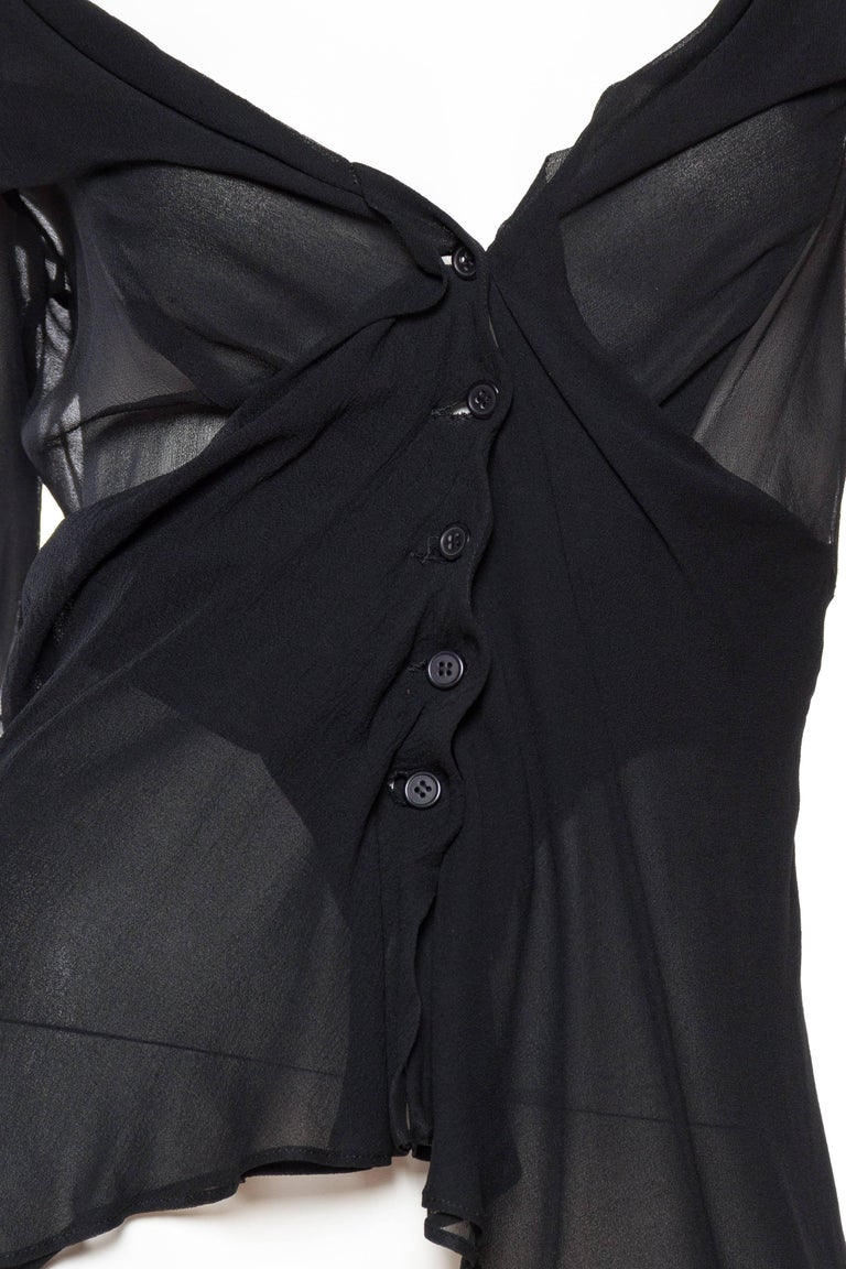 Sheer 1990s Issey Miyake Blouse For Sale 4