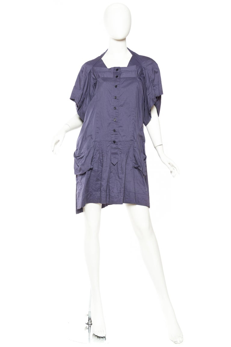 Gray Bernhard Willhelm Cotton Dress For Sale