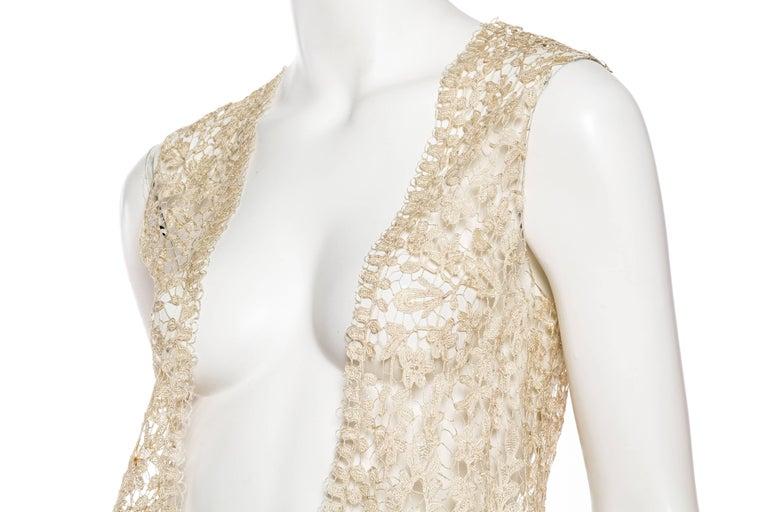 1920s Art Deco Handmade Lace Vest 7