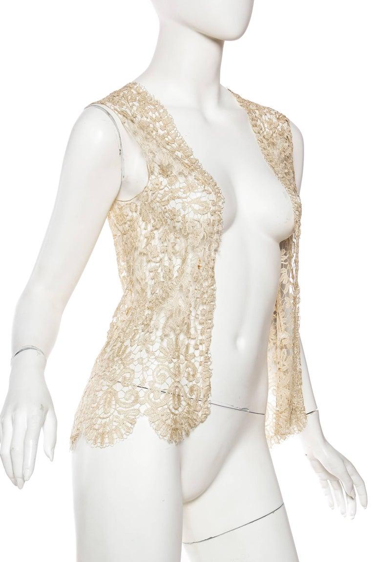 1920s Art Deco Handmade Lace Vest 3