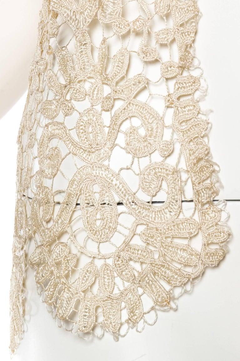 1920s Art Deco Handmade Lace Vest 10