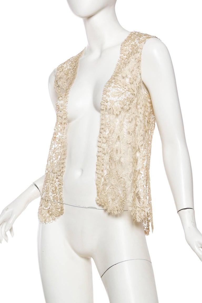 1920s Art Deco Handmade Lace Vest 4