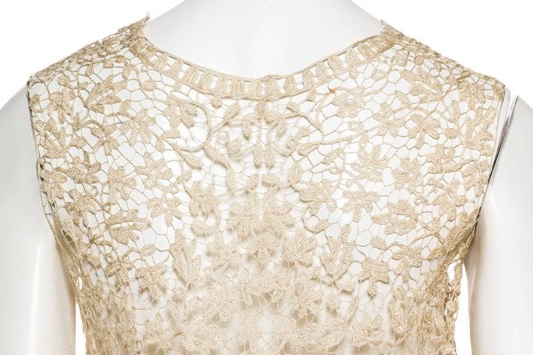 1920s Art Deco Handmade Lace Vest 8