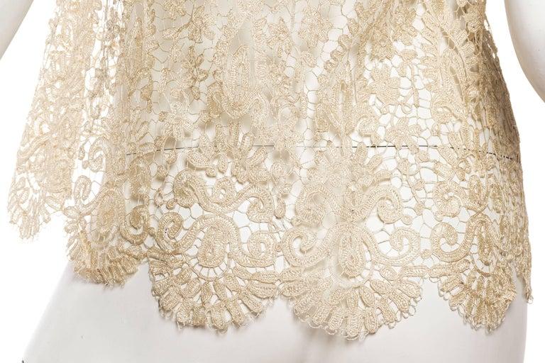 1920s Art Deco Handmade Lace Vest 9