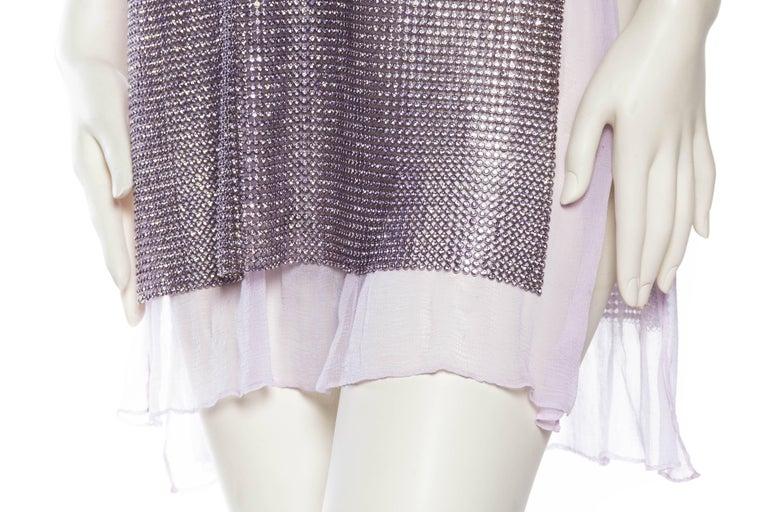 1990s Gianni Versace Crystal Metal Mesh Dress 7