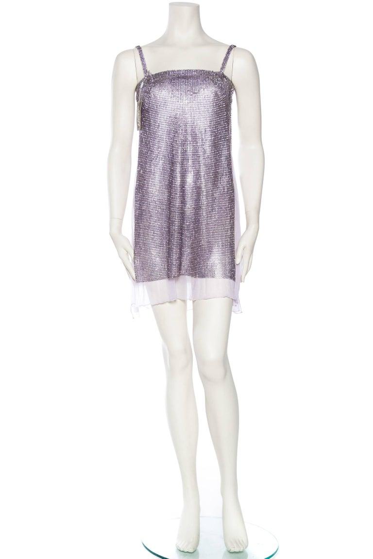 1990s Gianni Versace Crystal Metal Mesh Dress 2