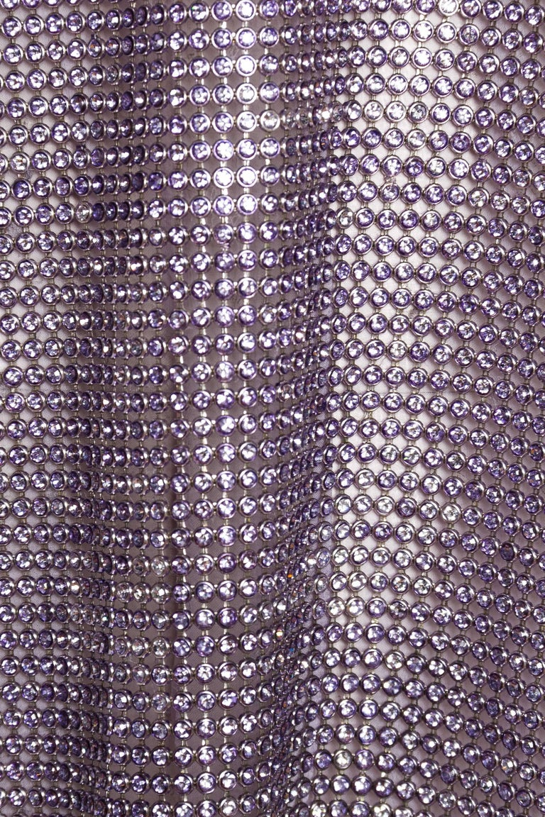 1990s Gianni Versace Crystal Metal Mesh Dress For Sale 3