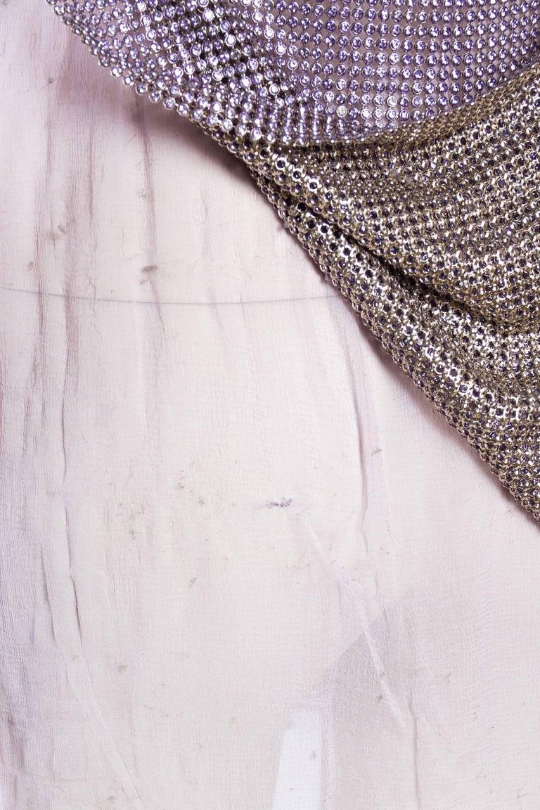 1990s Gianni Versace Crystal Metal Mesh Dress 9