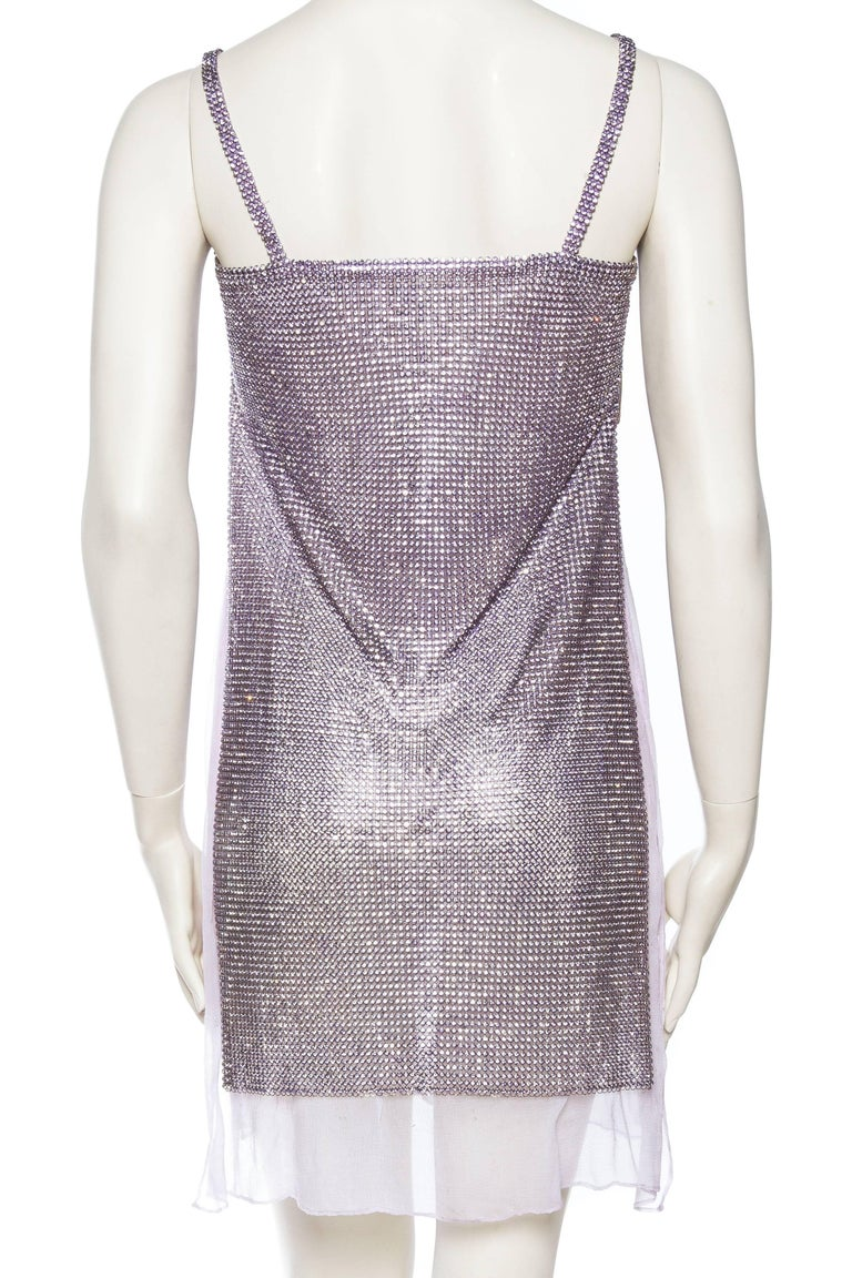 Women's 1990s Gianni Versace Crystal Metal Mesh Dress For Sale