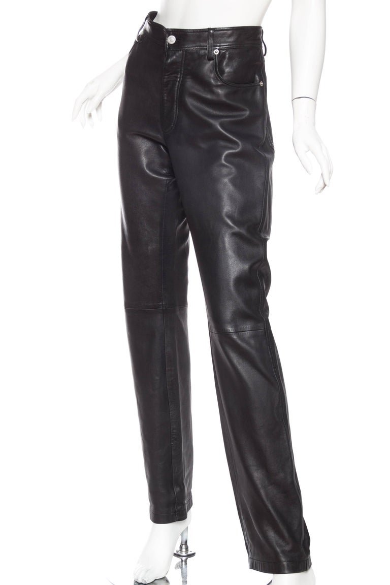 The Perfect Leather Pants from Helmut Lang In Excellent Condition For Sale In New York, NY