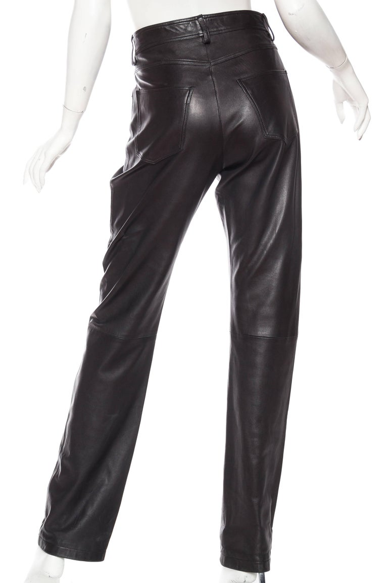 Women's or Men's The Perfect Leather Pants from Helmut Lang For Sale