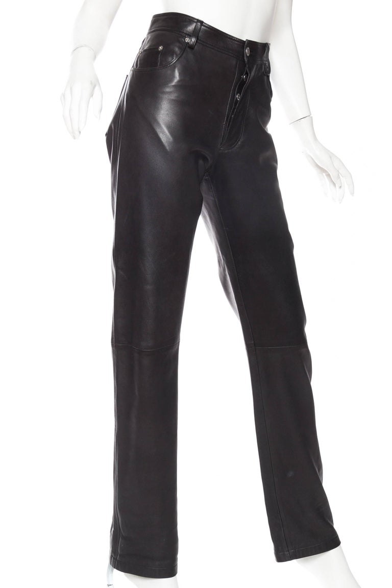 Black The Perfect Leather Pants from Helmut Lang For Sale