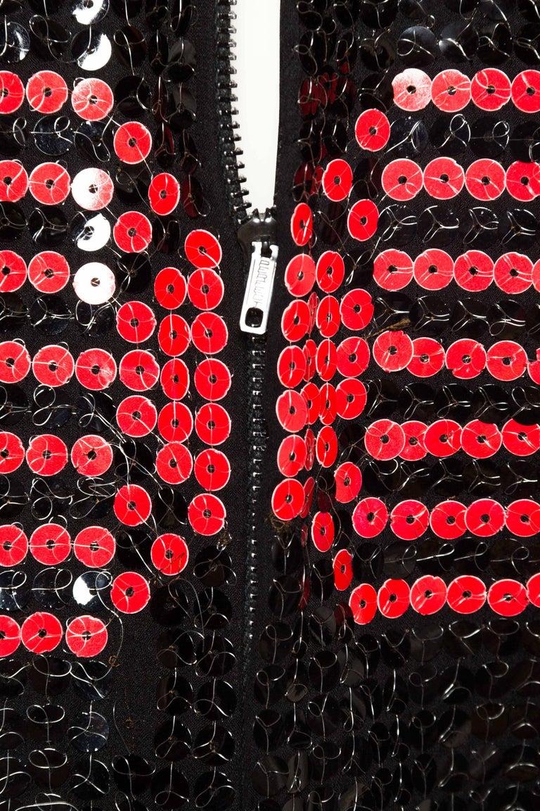 Adele Simpson Mod Sequin Dress For Sale 4