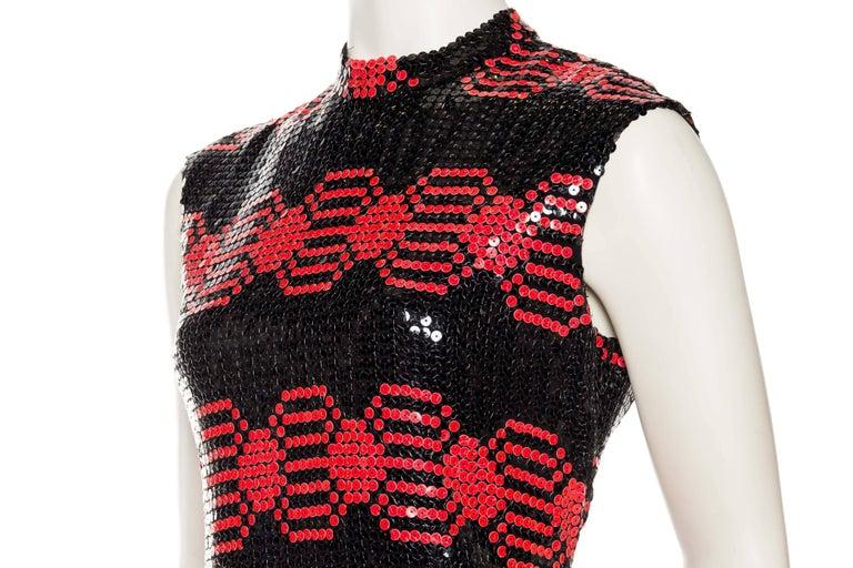 Adele Simpson Mod Sequin Dress For Sale 1