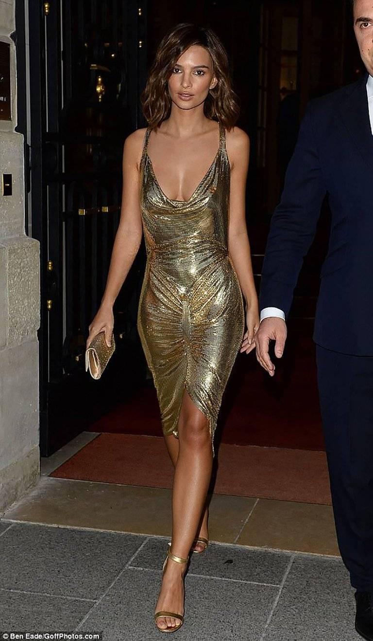 Phenomenal Gold Metal Mesh Dress At 1stdibs