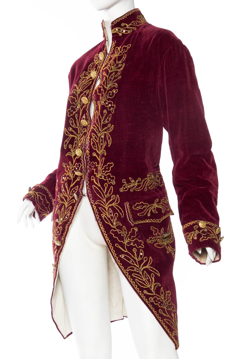 Women's or Men's Antique French 18th Century Style Frock Coat For Sale