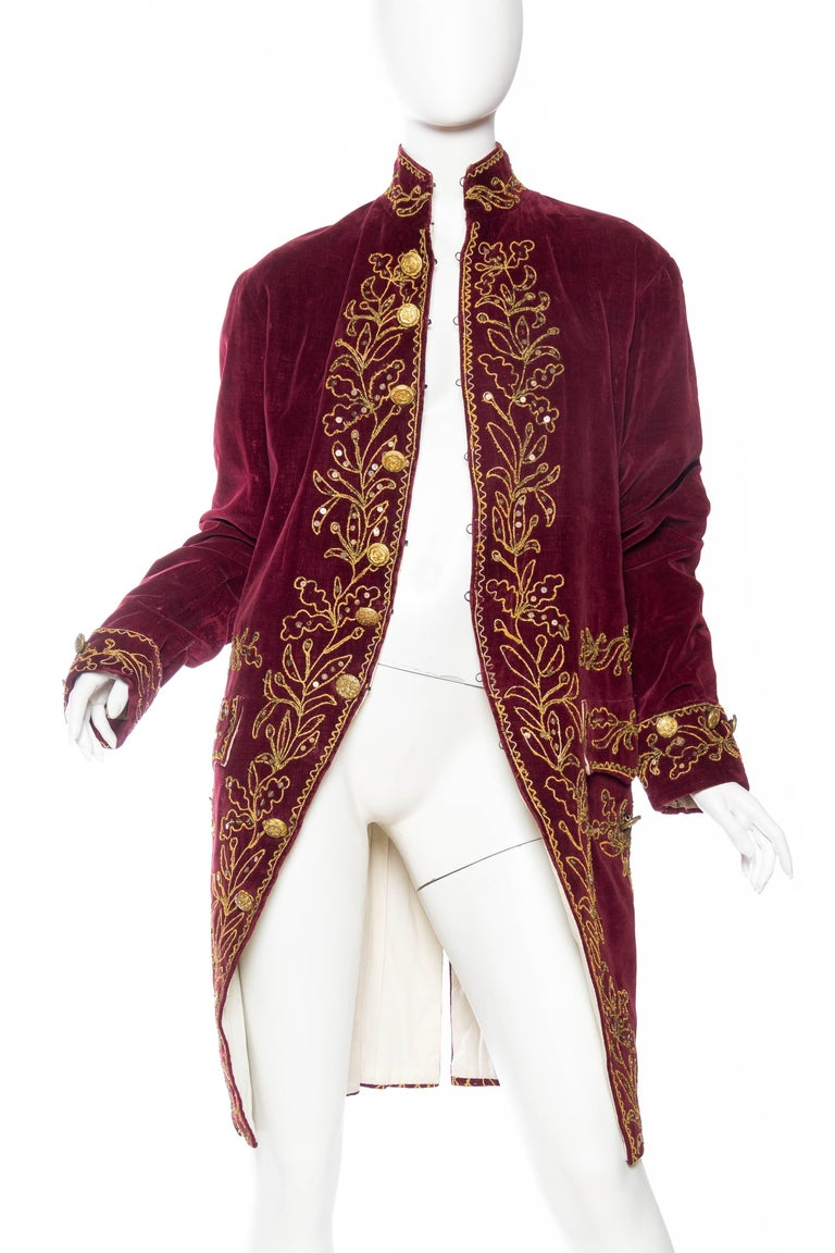 Brown Antique French 18th Century Style Frock Coat For Sale