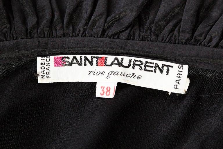 Saint Laurent Taffeta & Crepe Dress For Sale 5