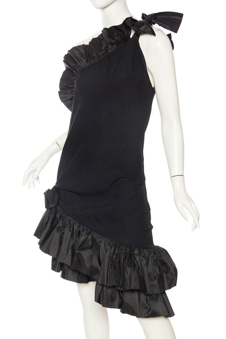 Saint Laurent Taffeta & Crepe Dress 5