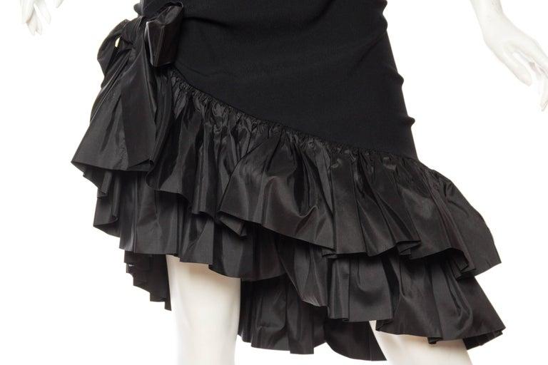 Saint Laurent Taffeta & Crepe Dress 8