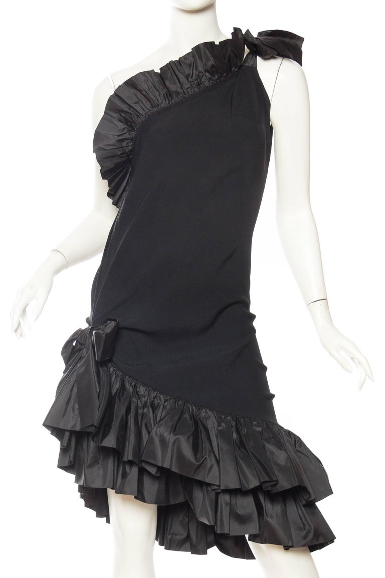 Saint Laurent Taffeta & Crepe Dress 2