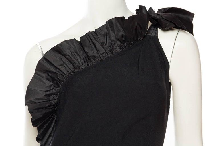 Saint Laurent Taffeta & Crepe Dress 7