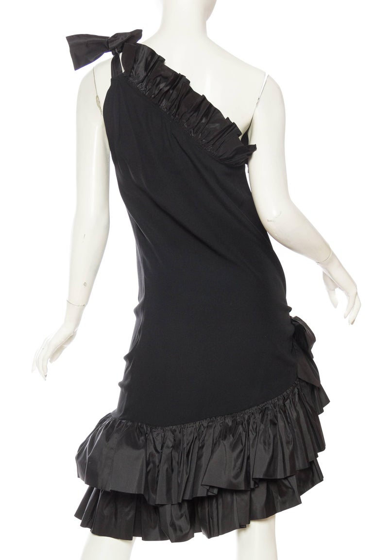 Saint Laurent Taffeta & Crepe Dress 6