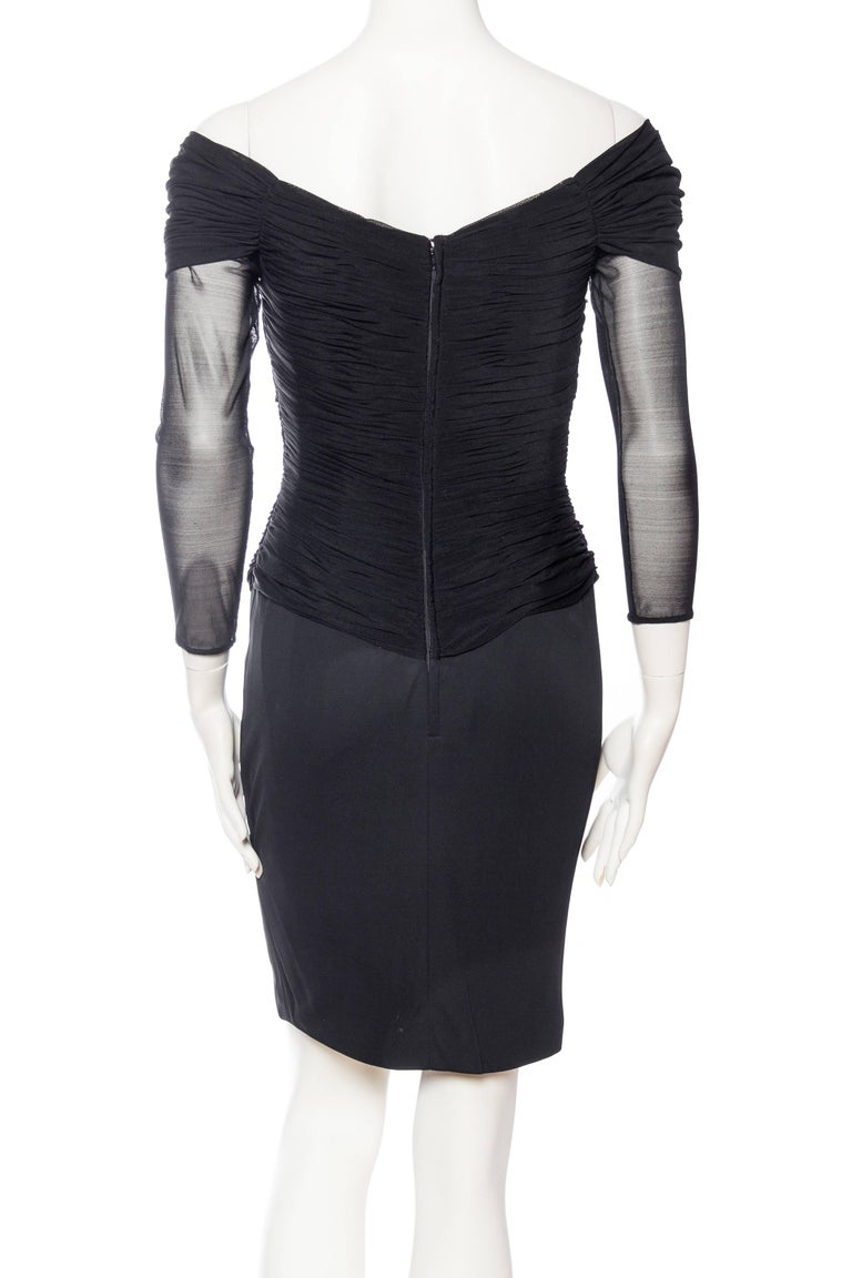 Vicky Tiel Couture Boned Dress with Sheer Net and Jersey For Sale 1