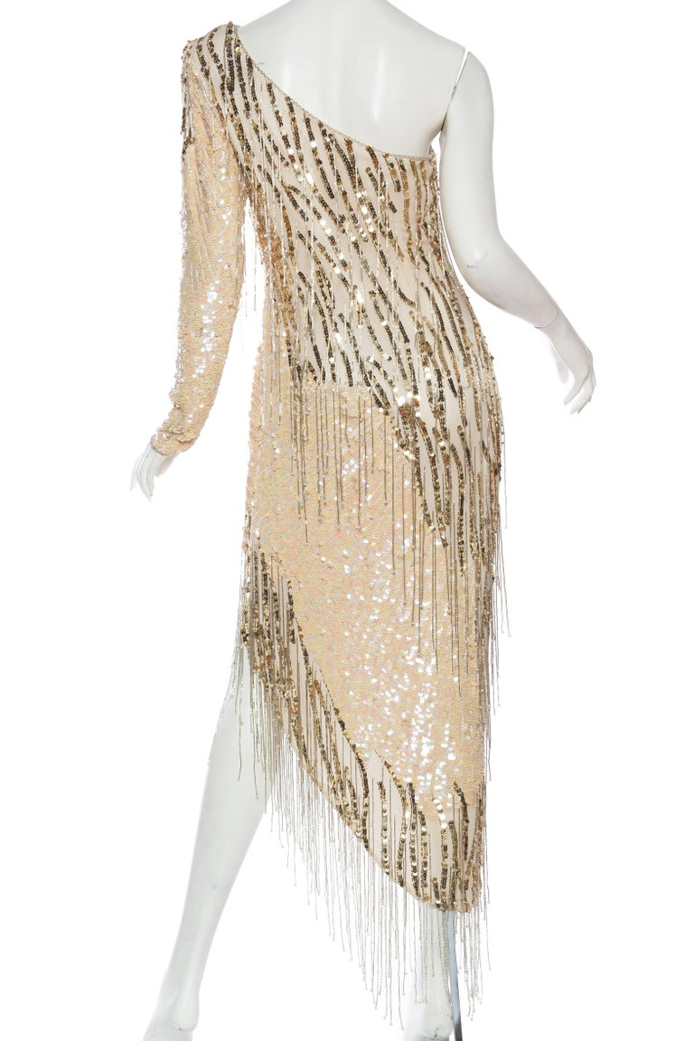 Bob Mackie Beaded Fringe Dress For Sale 2